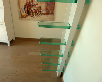 mezzanine design en verre et acier la stylique paris. Black Bedroom Furniture Sets. Home Design Ideas